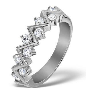 Diamond 0.50ct And Platinum Half Eternity Ring - S3471