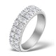 2 Row Diamond 1.00ct And Platinum Half Eternity Ring - S3482 - image 1