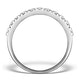 2 Row Diamond 1.00ct And Platinum Half Eternity Ring - S3482 - image 2