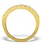 3 Row Diamond 1.50ct And 18K Gold Half Eternity Ring - N4490 - image 2