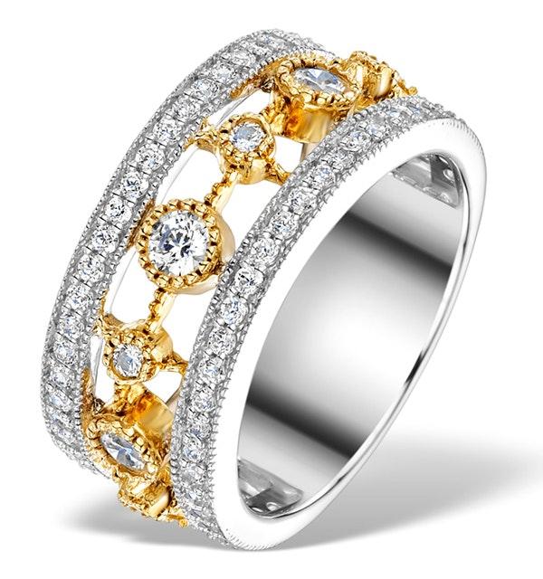18K GOLD ADORA 1.22ct PAVE SET Diamond Ring - image 1