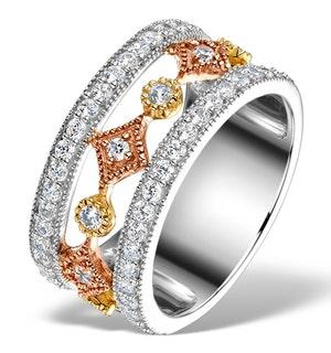 18K GOLD ADORA 0.97ct PAVE SET Diamond Ring