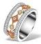 18K GOLD ADORA 0.97ct PAVE SET Diamond Ring - image 1