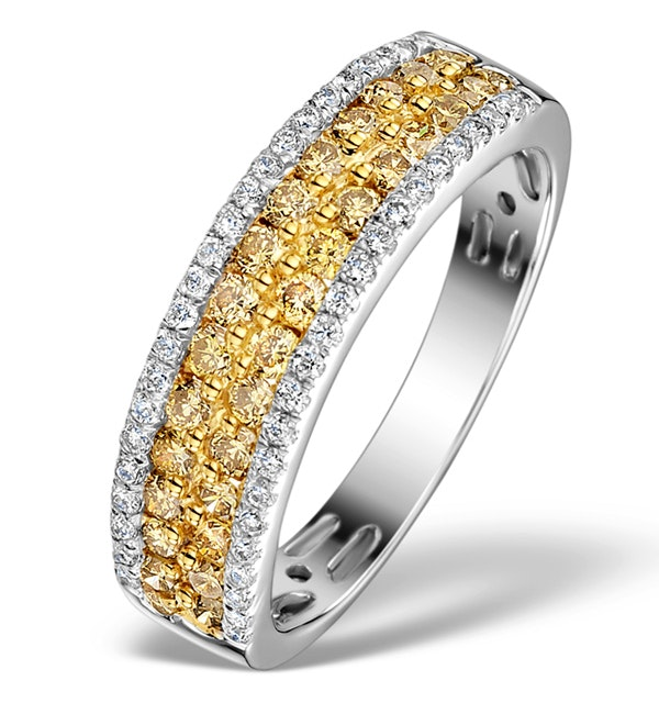 LUNA 18K GOLD YELLOW Diamond AND DIAMOND 0.90ct Ring - image 1