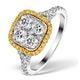 Halo Engagement Ring Angelina 1.50ct Yellow Diamonds 18K White Gold - image 1