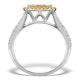 Halo Engagement Ring Angelina 1.50ct Yellow Diamonds 18K White Gold - image 2
