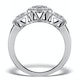 Halo Pave Ring - Celeste - 0.92ct of H/Si Diamonds in 18K White Gold - image 2