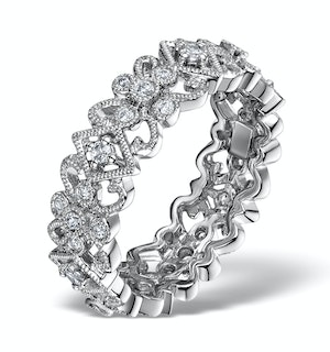 Diamond Eternity Ring - Trellis - 0.42ct set in 18K White Gold - N4520