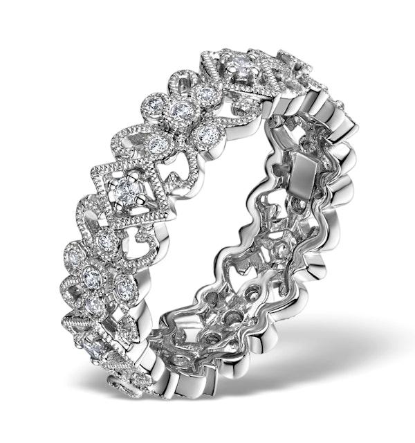 Diamond Eternity Ring - Trellis - 0.42ct set in 18K White Gold - N4520 - image 1