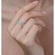 Diamond Eternity Ring - Trellis - 0.42ct set in 18K White Gold - N4520 - image 3