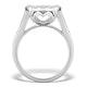 Diamond Galileo Ring 1CT Set in 18K White Gold - N4532Y - image 2