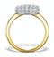 Diamond Pave Cushion Ring 1.25CT H/Si in 18K Gold Ring - N4537 - image 2
