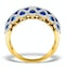Sapphire 1.36CT  and Diamond Lattice Ring in 18K Gold - N4539 - image 2