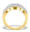Lattice Diamond Ring 1.75CT H/Si in 18K Gold - N4531 - image 2