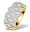 Lattice Diamond Ring 1.75CT H/Si in 18K Gold - N4531 - image 1