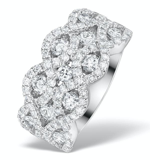 Diamond Weave 18K White Gold Ring  1.20CT H/Si - N4542Y - image 1
