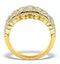 Diamond Art Deco 18K Gold Ring 1.25CT H/Si - N4544 - image 2