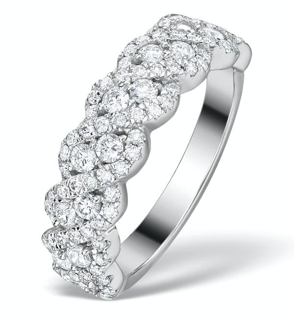 Diamond Weave Ring 1CT H/Si in 18K Gold - N4545Y - image 1