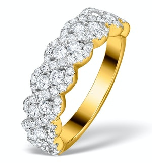 Diamond Weave Ring 1CT H/Si in 18K Gold - N4545