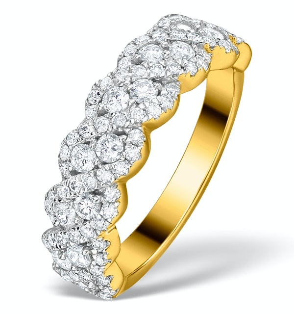 Diamond Weave Ring 1CT H/Si in 18K Gold - N4545 - image 1