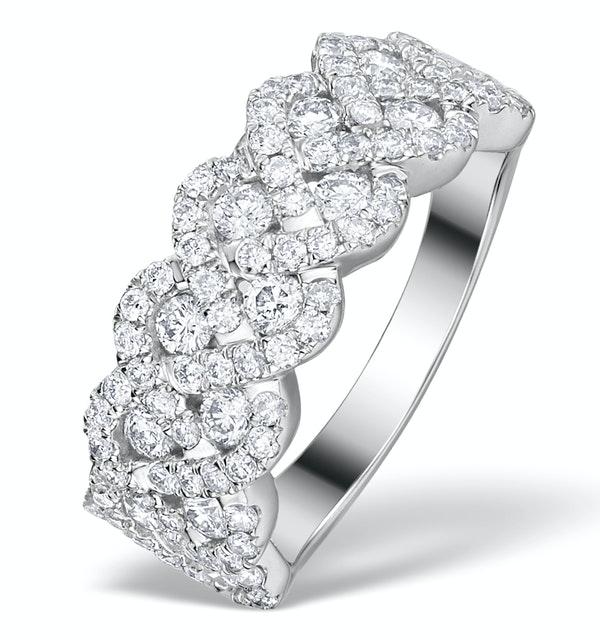 Lab Diamond Weave Ring 1.20CT H/Si in 9K Gold - N4546Y - image 1