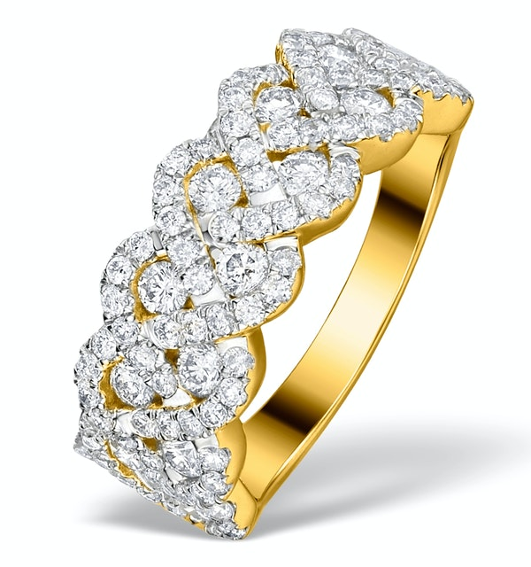 Diamond Weave Ring 1.20CT H/Si in 18K Gold - N4546 - image 1
