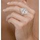 Vintage Diamond Ring 1.75CT H/Si in 18K White Gold - N4547 - image 3