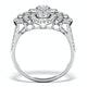 Vintage Diamond Ring 1.75CT H/Si in 18K White Gold - N4547 - image 2