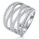 Diamond Tiara Band Ring 2.00ct H/Si Set in 18K White Gold - image 1