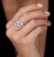 Diamond Tiara Band Ring 2.00ct H/Si Set in 18K White Gold - image 2