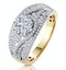 Amaranta Diamond Ring 1ct H/Si Set with Raised Cluster in 18K Gold - image 1