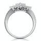 Calice Diamond Pave Pear Shape Halo Ring 1.30ct in 18K White Gold - image 3