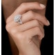 Calice Diamond Pave Pear Shape Halo Ring 1.30ct in 18K White Gold - image 2
