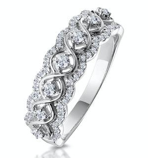 Ariane Diamond Half Eternity Ring 0.40ct Set in 18K White Gold