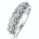 Ariane Diamond Half Eternity Ring 0.40ct Set in 18K White Gold - image 1