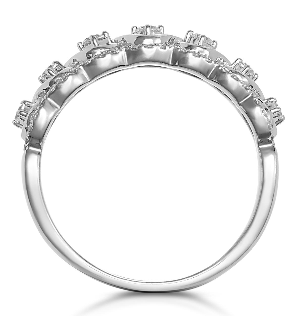 Ariane Diamond Half Eternity Ring 0.40ct Set in 18K White