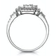 0.75ct Diamond Asteria Collection Baguette Ring in 18K White Gold - image 2