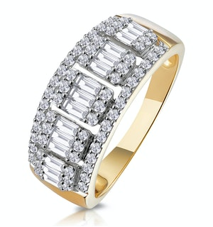 0.85ct Diamond Asteria Collection Baguette Eternity Ring in 18K Gold