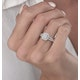 0.50ct Halo Baguette Diamond Ring Asteria Collection in 18K White Gold - image 3