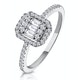0.40ct Halo Baguette Diamond Asteria Ring in 18K White Gold - image 1