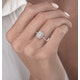 0.40ct Halo Baguette Diamond Asteria Ring in 18K White Gold - image 3