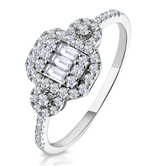 0.50ct Vintage Asteria Collection Diamond Ring in 18K White Gold - image 1