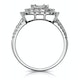 1.25ct Asteria Collection Double Halo Diamond Ring in 18K White Gold - image 2