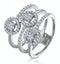 0.55ct Asteria Collection Wide Diamond Halo Ring in 18K White Gold - image 1
