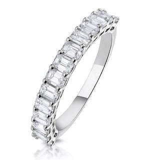 1.35ct Asteria Baguette Eternity Diamond Ring in 18K White Gold