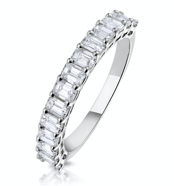 1.35ct Asteria Baguette Eternity Diamond Ring in 18K White Gold - image 1