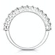 1.35ct Asteria Baguette Eternity Diamond Ring in 18K White Gold - image 2