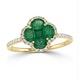 Emerald 1.06ct And Diamond 18K Yellow Gold Alegria Ring - image 2
