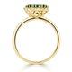 Emerald 1.06ct And Diamond 18K Yellow Gold Alegria Ring - image 3