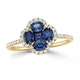 Sapphire 1.31ct And Diamond 18K Yellow Gold Alegria Ring - image 2